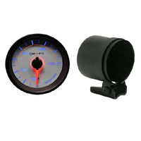 Drift Gauge Saturn Series Water Temp & Pod Package 100 > 260 F 60mm Black Face