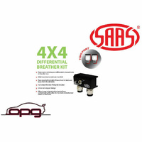 Genuine SAAS DB1010 Diff Breather Kit 2 Port for Nissan Pathfinder R51 2006>2015