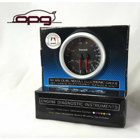 Dual Needle 4WD Gauge Diesel EGT & Boost 60mm Analog Black Face 7 Colour Light