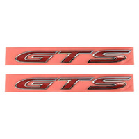 "Badge HSV ""GTS"" VF GENF GENF2 GTS Side Badge - Red with Chrome Rim - Pair"