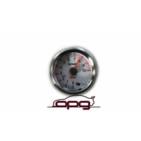 PERFORMANCE TACHO TACHOMETER 52MM ANALOG GAUGE WHITE FACE 7 COLOUR LIGHTING