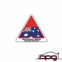 DECAL Flag Australian made Holden 1948-2017 HOLDEN COMMODORE HDT VB VC VH VK VL