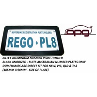 Number / Registration Plate Frame Motorbikes Motorcycle VIC TAS NSW QLD Black