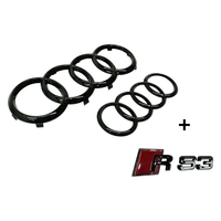Badge Combo Grille & Boot Audi Rings & RS3 Badge for 2016 > 2020 Including Fl
