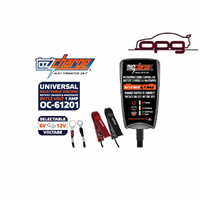 OZ CHARGE 6/12 Volt 1 Amp Battery Charger Trickle Maintainer HD Harley Sportster