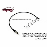 Analogue Radio AM FM Hidden Antenna Lead in Car/Cabin Classic Muscle Car 110cm