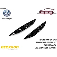 ACEXXON HoneyComb Reflector Inserts / Deletes GLOSS BLACK VW MK7 MKVII Golf R