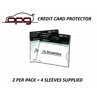 RFID Blocking Shieldex Credit Card Protector Sleeve Anti Theft Scan Safe X 4
