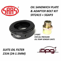 SAAS OIL ADAPTOR SANDWICH PLATE FOR OIL/TEMP PRES Z334 TOYOTA LANDCRUISER