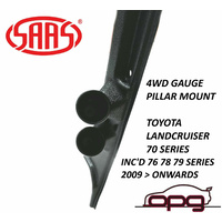 SAAS GAUGE PILLAR POD FOR TOYOTA LANDCRUISER 70 SERIES FOR 52MM GAUGES 2009 > ON