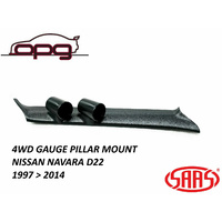 SAAS PILLAR / POD FOR NISSAN NAVARA D22 1997 > 2014  HOLDER / MOUNT 52MM GAUGES