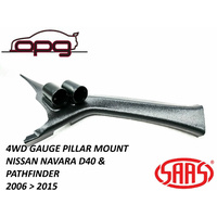SAAS GAUGE PILLAR POD FOR NISSAN NAVARA D40 2006 > 2015 FOR 52MM GAUGES