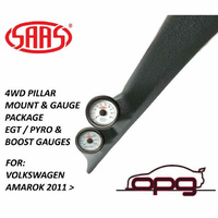 SAAS Pillar Pod / Gauge Package for Volkswagen Amarok Boost & EGT Gauges White