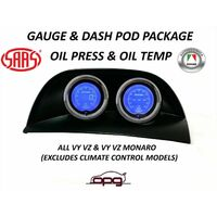 Gauge Dash Pod LCD Gauge Combo Oil Temp & Oil Pressure for Holden VY VZ Storm Black