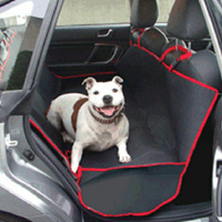 Rear Car Seat Protection Dog / Pet Cover with Safety Belt Slots