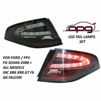 FPV Ford Falcon FG sedan 08 up all models LED Black finish Tail Lights XR6 XT G6