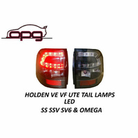 Holden Commodore VE VF Ute SS Black Housing LED TAIL LIGHTS New Euro Style Pair