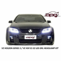 DRL Chrome LED Headlights for Holden HSV Commodore VE Models SS SSV Maloo