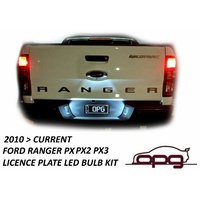 LED LICENCE REGISTRATION PLATE  LAMP BULBS FORD RANGER PX PX2 PX3 2012 > 2020