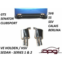 EXHAUST VE SS SSV SV6 CALAIS BERLINA DIFF BACK SEDAN DIFF BACK STAINLESS PAIR